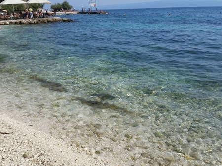夏のビーチを分割