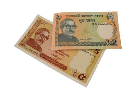 the central bank: Bangladeshi taka currency banknote Stock Photo