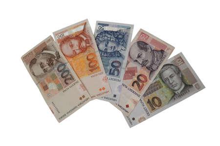 croatian: Kuna croatian currency banknote series