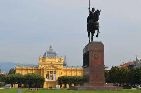 zagreb: King Tomislav Statue in zagreb