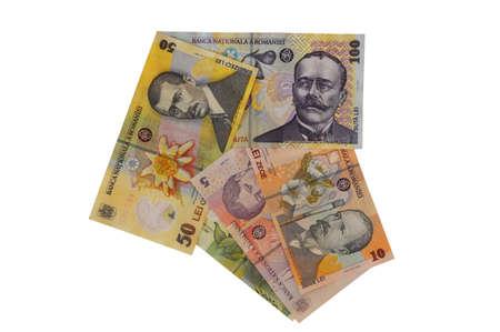 leu: ron banknote Romanian currency arrow