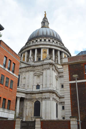st pauls: St. Pauls Cathedral dome Stock Photo