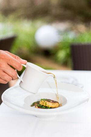 Typical Austrian meat and broth dish Banque d'images