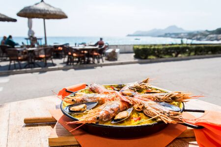 Paella, typical dish of Spain Stockfoto