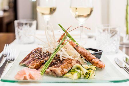 Bluefin tuna tataki with ginger