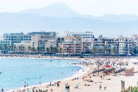 Beach and sea landscape in El Arenal, Majorca