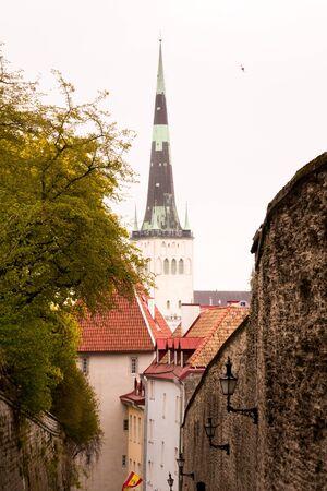 Tower in the city of Tallinn, Estonia
