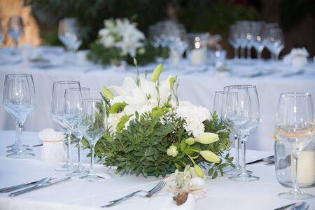 Flower decoration for a wedding