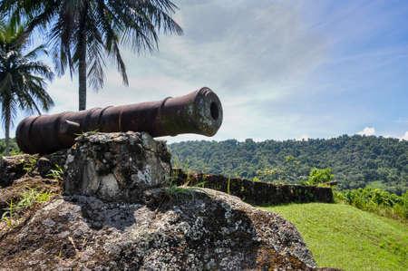 Historical cannon used to combat pirates at Paraty, Rio do Janeiro, Brazil  Stock Photo - 22409932