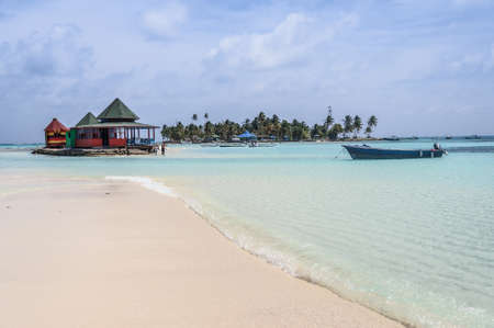 Caribbean Beach Oasis at San Andres island  Colombia, South America  Latin America Stock Photo