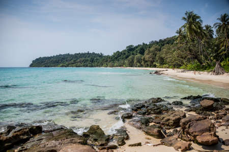 Unsopilted Tropical Crystal Beach at Koh Kood island, South East Asia  Thailand  photo