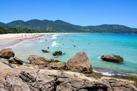 The most beautiful beach of the island, Lopes Mendes at Ilha Grande, Rio do Janeiro, Brazil  Standard-Bild