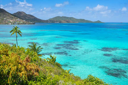 Incredible caribbean sea view of Providencia island near San Andres in Colombia  Stock Photo