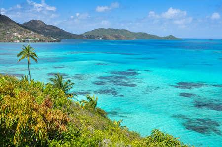 Incredible caribbean sea view of Providencia island near San Andres in Colombia  Standard-Bild