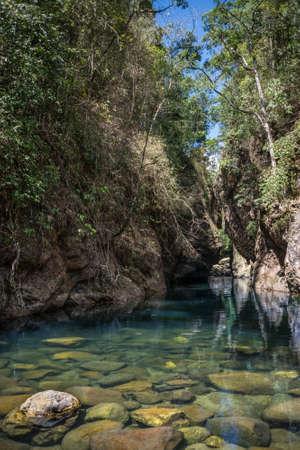 Beautiful Blue Jungle Lagoon, Khao Sok National Park. Thailand, Asia. South East Adventure. photo