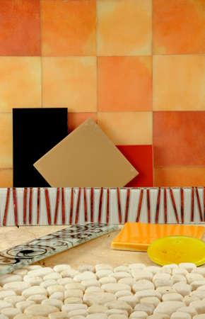 Studio Shot composition. Bathroom Decor,  Arquitecture elements design. photo