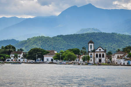 View of Paraty Town at Paraty, Rio do Janeiro, Brazil. Stock Photo