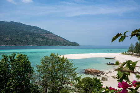 Beautiful Koh Lipe Tropical Island Landscape. Turquoise Sea. Thailand, Asia Adventure. Stock Photo