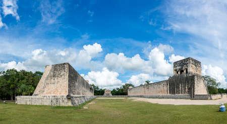 roo: Beautiful panoramic view of historic Mayan Building. Taveling through Quintana Roo.