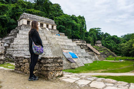 View of Historic Mayan Site. Traveling Through Chiapas, Mexico.