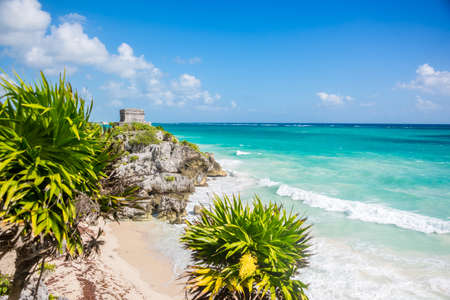 cultura maya: Para�so Pristine neare Canc�n, Quintana Roo aventura, viajando M�xico.