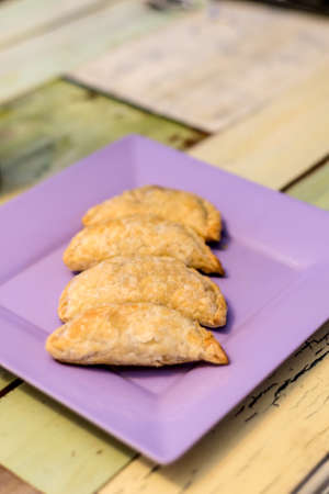 argentinean: Delicious meat empanadas. Filled with meat, Argentinean traditional culture.