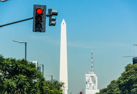obelisco: Traveling South America. Latin American culture. Iconic Building.