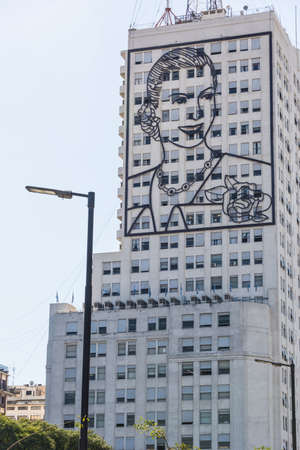 evita: Famous carachter and building, traveling South America. Editorial