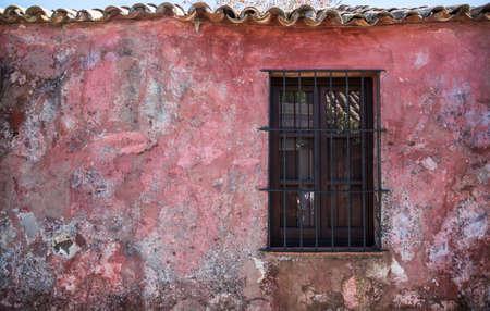 America: Colonial Scene, traveling South america. Latin American Culture. Stock Photo