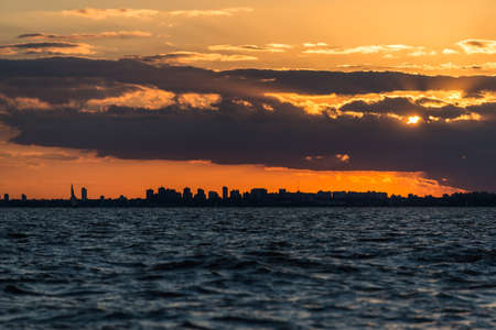 Incredible view of Buenos Aires City. Sunset over the city. Standard-Bild
