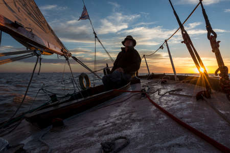 Beautiful Adventure, sailing from Buenos Aires to Colonia, Uruguay.