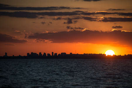 Incredible view of Buenos Aires City. Sunset over the city. Stock Photo