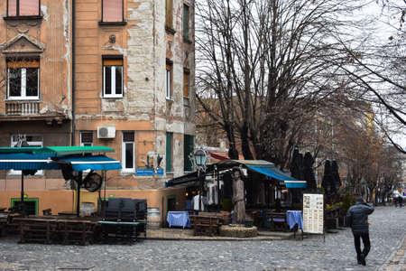 republika: Belgrade, Serbia. February 7, 2017. Skadarlija neighborhood, vintage street of Belgrade