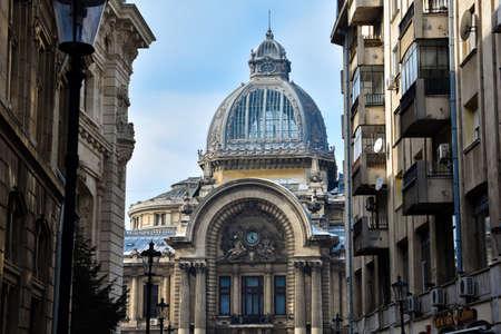 Bucharest, Romania. February 3, 2017. CEC Palace (Palatul CEC, Casa de Economii si Consemnatiuni)