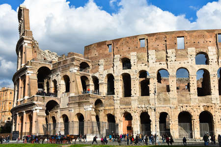 Rome, Italy. February 11, 2017. The Colosseum (Colosseo) Editorial