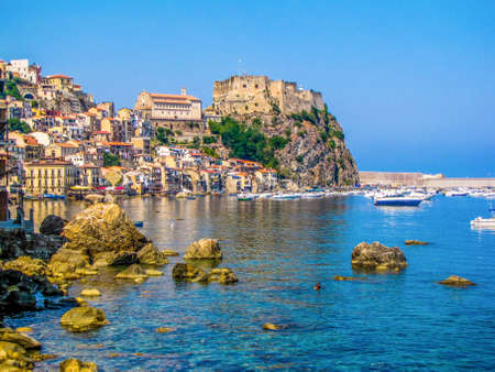 Summer view of Scilla, Italy