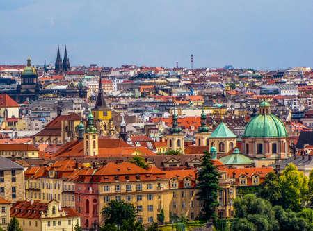 Summer view of the old town in Prague, Czech Republic 免版税图像