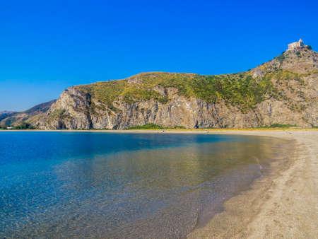 View of the beach in Tindari, Sicily, Italy