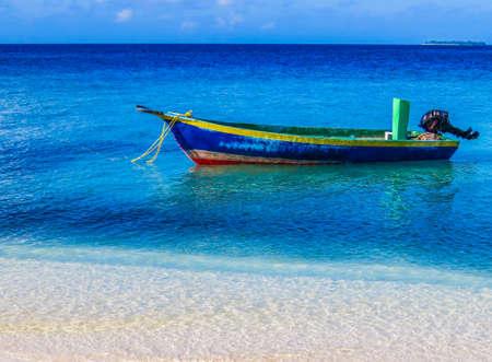 Fisherman boat in Ukulhas, Maldives