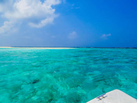Boat excursion on the atoll of Ukulhas, Maldives