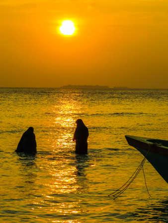 Local women in Ukulhas, Maldives