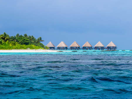 Luxurious resort in the atoll of Ukulhas, Maldives Editorial