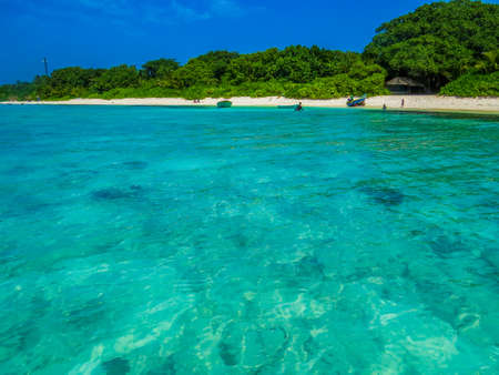 Amazing beach in Ukulhas, Maldives Editorial