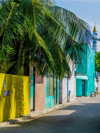 Mosque in the atoll of Villingili, Maldives