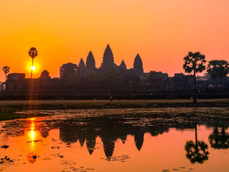 Amazing sunrise in Angkor Wat, Cambodia Editorial