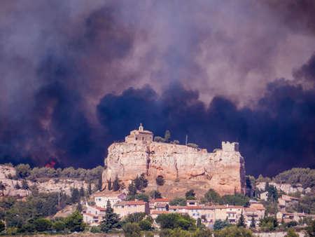 Fire in Vitrolles, France 免版税图像