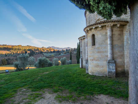Abbey of Sant'Antimo in Montalcino, Tuscany, Italy