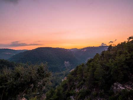 Amazing sunset over Baakline, Mount Lebanon