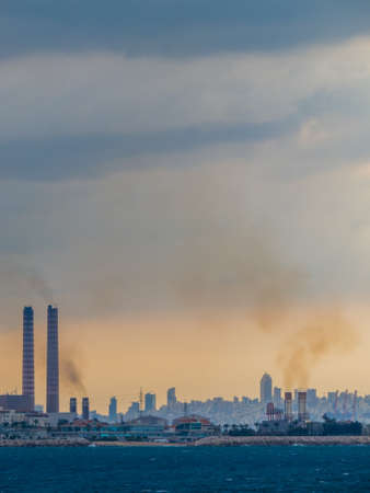 Pollution in Beirut, Lebanon