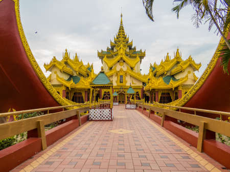 Karaweik Palace. In Yangon, Myanmar